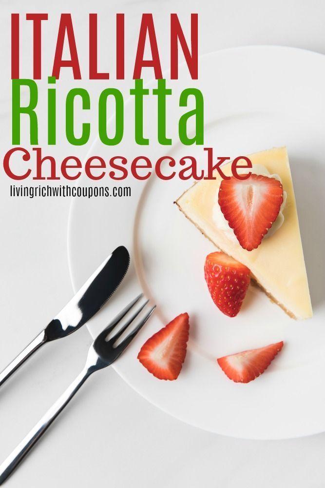 Italian Ricotta Cheesecake Recipe Recipe Cheesecake Recipes Recipes Ricotta Cheesecake