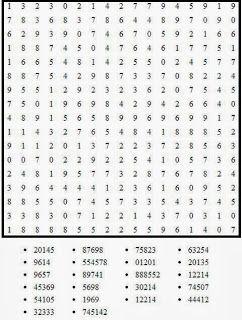 Pasatiempos para Imprimir: Sopa de Números nº 5