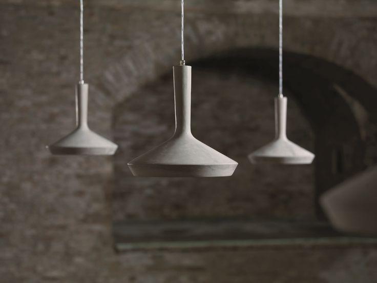 LAMPADA A SOSPENSIONE IN CEMENTO DHARMA BY KARMAN   DESIGN EDMONDO TESTAGUZZA