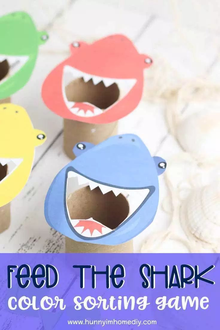 Fun Feed the Shark Color Sorting Game