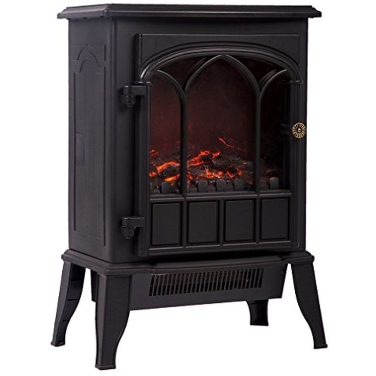 Electric Fireplace Heater, 750W/1500W Free Standing Portable Fireplace Heat Log Flame Stove -- Learn more by visiting the image link. (This is an affiliate link) #HeatingCoolingAirQuality