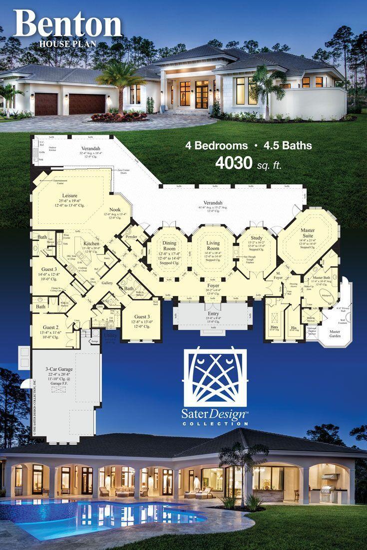 House Plans Home Plans Floor Plans Sater Design Collection New House Plans Mansion Floor Plan House Plans