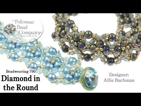 "Make a "" Diamond in the Round "" bracelet by Allie Buchman, #Seed #Bead #Tutorials"
