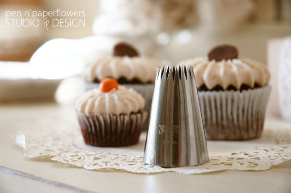 tutorial | Cupcake Frosting Finish using French Pastry Tip
