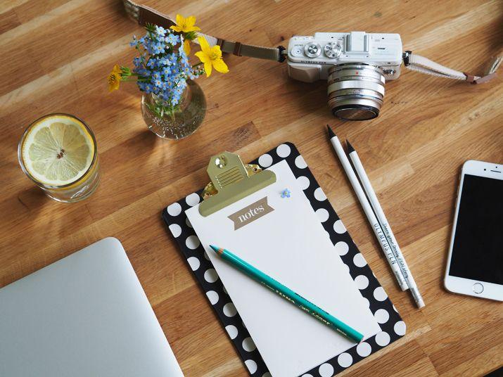 TerezaInOslo: Žárovková vázička, luční květy, nový zápisník a fotogenické zátiší