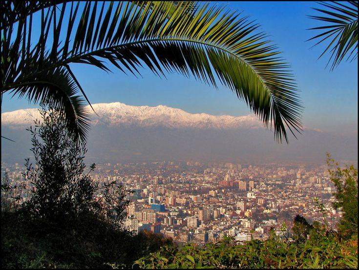 Santiago - view from Cerro San Cristobal - CHILE