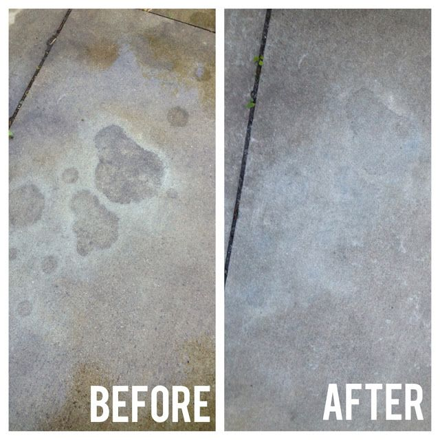 how to clean old oil stains from concrete