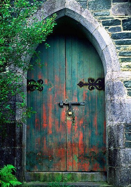 #Doors creative shapes for your #renovation project - Ancient blue door ~ Kerry, Ireland. #AnInfomatiqueFavorite http://www.myrenovationmagazine.com