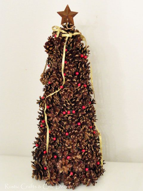 18 best my christmas tree cone creations images on for Fir cone christmas tree decorations
