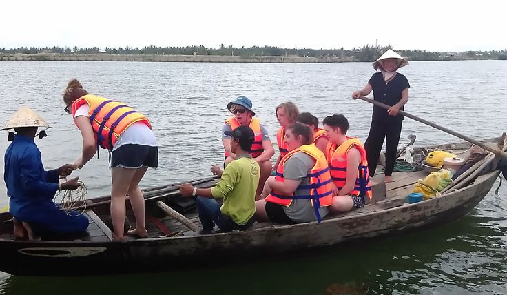 Traditional transportation in coastal areas and rivers in Vietnam #EcoTour #VietnamSchoolTours
