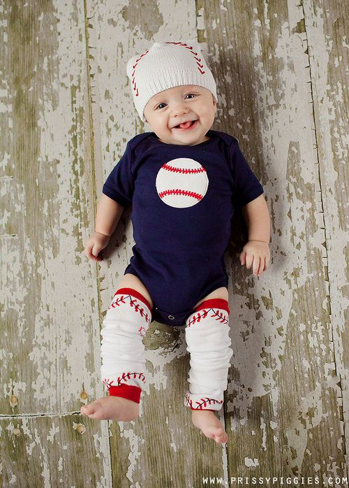 Baseball onesy, hat & matching leg warmers!! Perfect for all you baseball fans!!