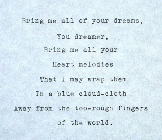 Short Sweet I Love You Quotes: Typewriter Poem The Dream Keeper Langston Hughes Original