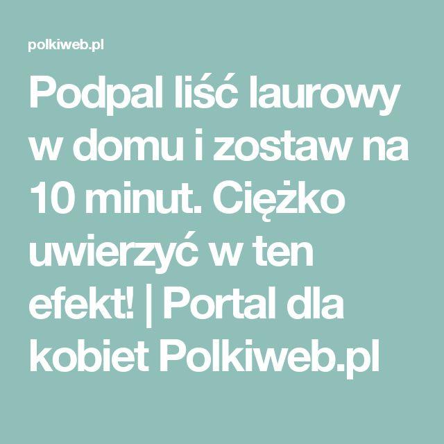 Podpal liść laurowy w domu i zostaw na 10 minut. Ciężko uwierzyć w ten efekt! | Portal dla kobiet Polkiweb.pl