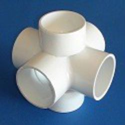 Six Way 6 Way Fittings For Pvc Plastic Pipe In 1 2 Quot To 3