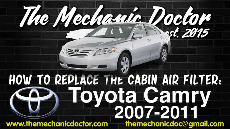 This video will show you step by step instructions on how to easily replace the cabin air filter on a Toyota Camry 2007-2011.