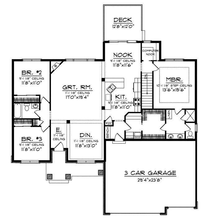 House plans with laundry room near master for Db ranch