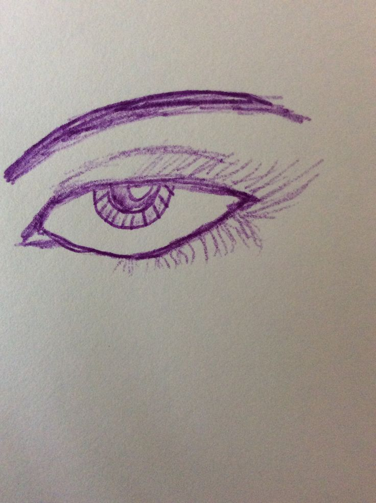 Tried to do an eye using a pen but, it ends up looking like a bird :P.