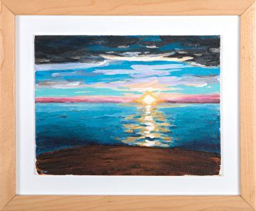 "Aliso Sunset by Kurt Weismair Acrylic ~ 5"" x 7"""