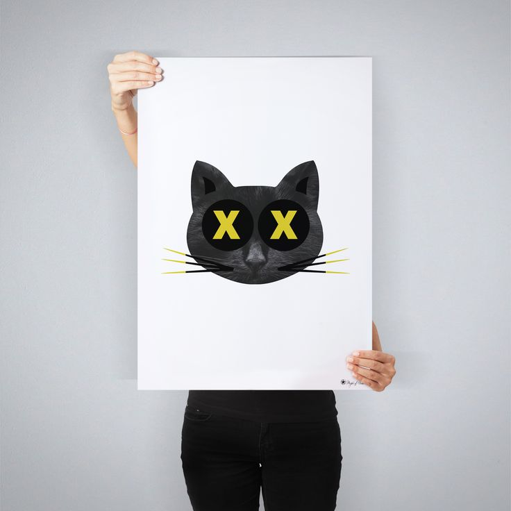 """Crazy Cat"" // art print by People of Tomorrow"