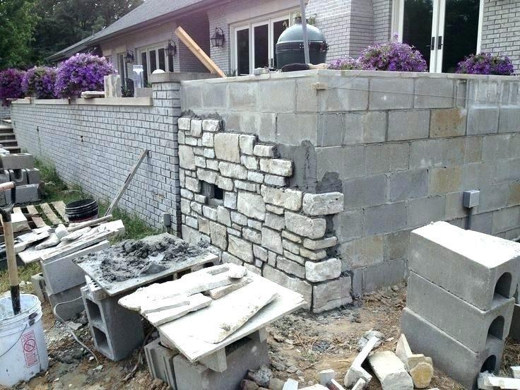 Cinder Block Wall Painting Ideas Backyard Brick Wall Ideas Cinder