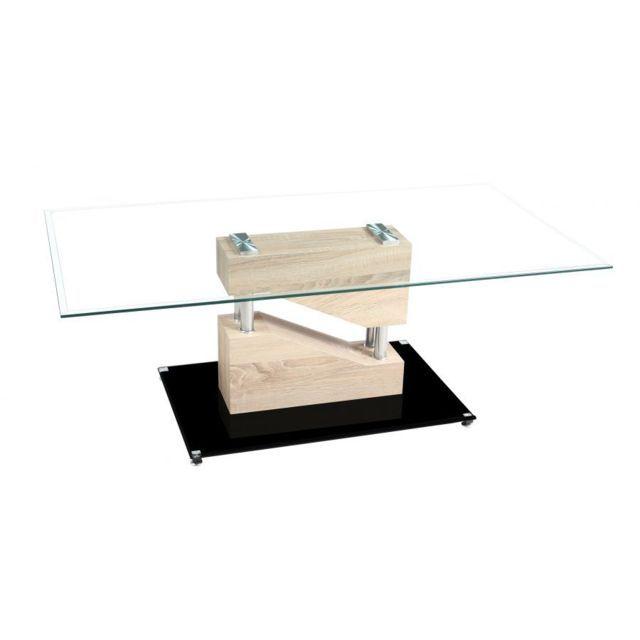 Chloe Design Table Basse Design Armela Bois Clair En 2019 Table Basse Bois Table Furniture Et Bass