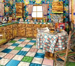 Artist Covers Life-Size Kitchen with Glass Beads   ifood.tv