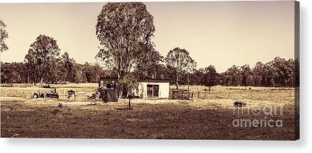 Australian Acrylic Print featuring the photograph Outback Country Australia Panorama Landscape by Jorgo Photography - Wall Art Gallery