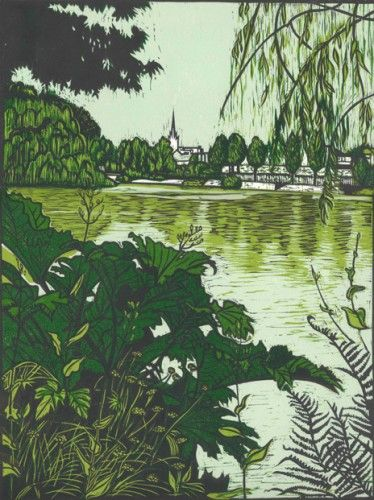 Louise Leonard: Blessington Street Basin, 2014, linocut,  €280