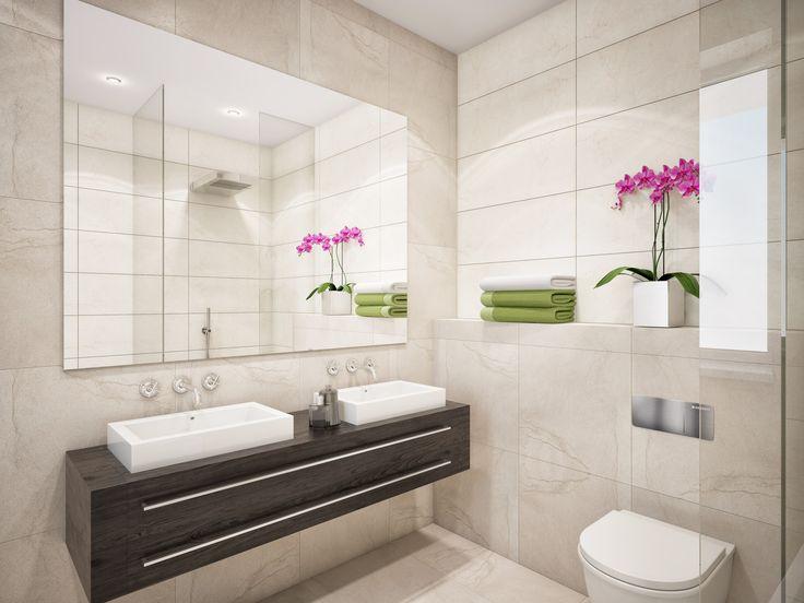 Edle Ausstattungsvariante Für Die #Badezimmer Mit #Markenarmaturen Und # Fußbodenheizung.