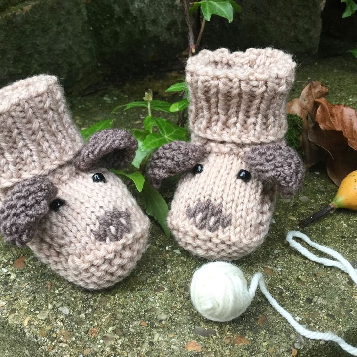 Baby Booties KNITTING PATTERN - Puppy Dog Baby Booties ...