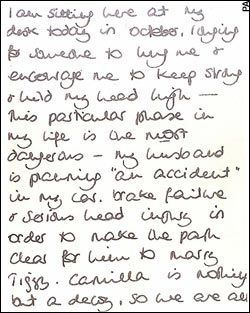 Diana butler Paul Burrell | ... note written by Diana, Princess of Wales to her butler Paul Burrell