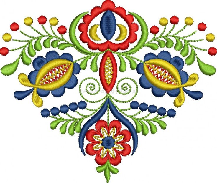 Slovak folk embroidery from Vajnory