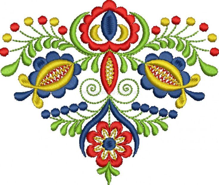 Slovak folk embroidery from Vajnory