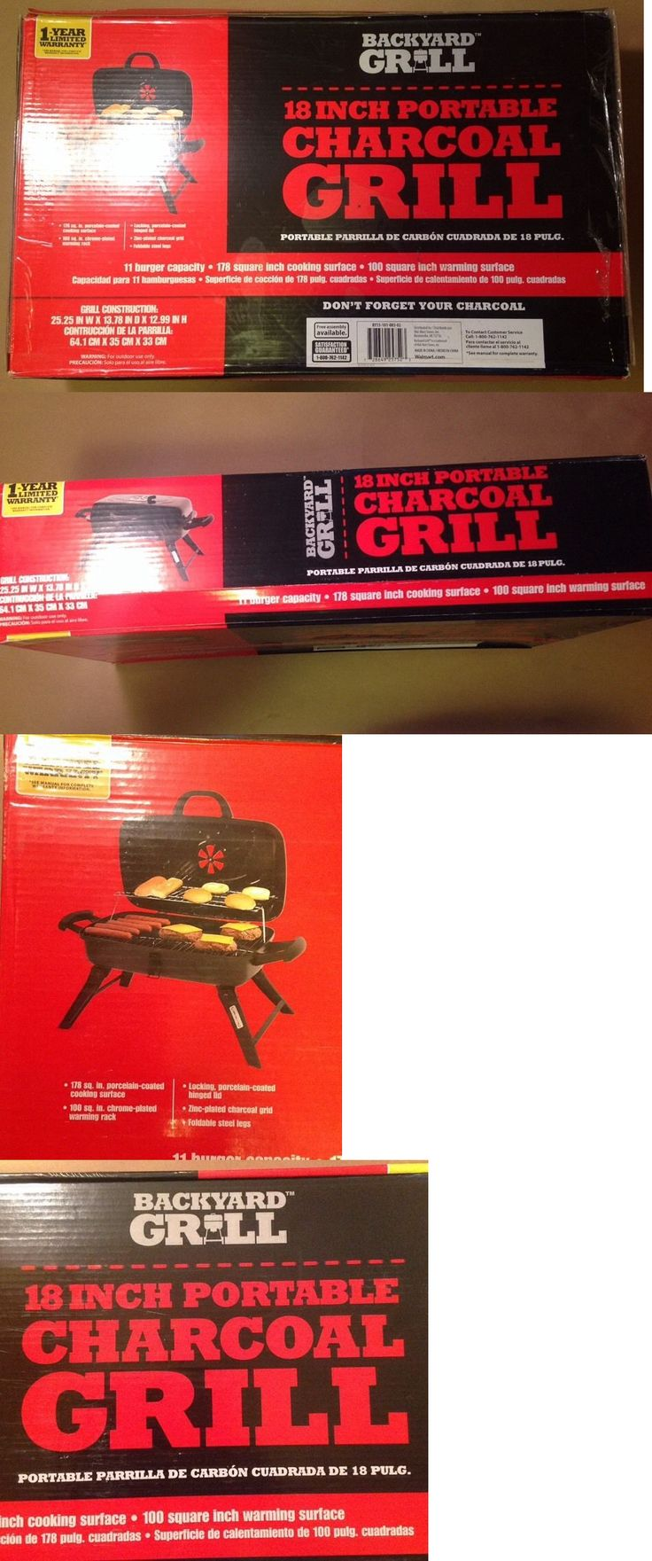 Other Outdoor Cooking and Eating 159926: Backyard Grill 18 Inch Portable Charcoal Grill 11 Burgers By15-101-003-02 -> BUY IT NOW ONLY: $35.98 on eBay!