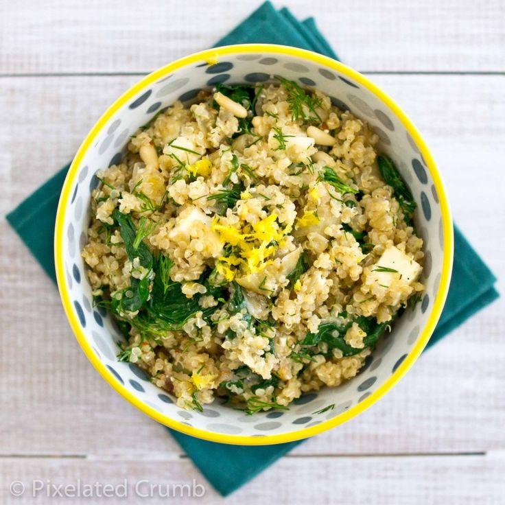 Quinoa with Spinach, Dill and FetaFun Recipe, Quina Salad Recipe, Spinach Feta, Dill, Salad W Spinach, Quinoa Salad, Favorite Recipe, Quina Recipe, Salad Wspinach