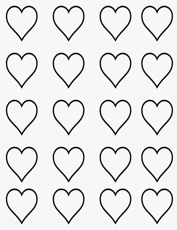 20 corazones en una hoja.