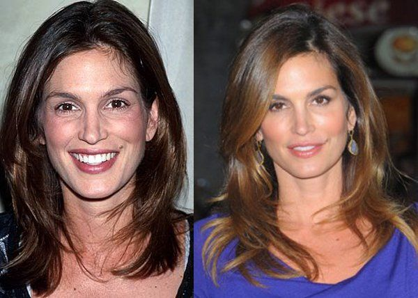 Cindy Crawford looks fantastic with her subtle changes. Just say no, no, no (!) to fillers (looking at you Courtney Cox....)