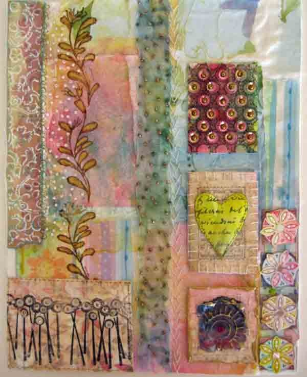 mixed media collage by Beryl Taylor