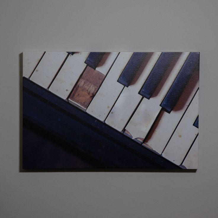 A beautiful vintage piano canvas for your home! This large gallery wrap will suit anyone with rustic taste. Just $130 for this wall art print! :)