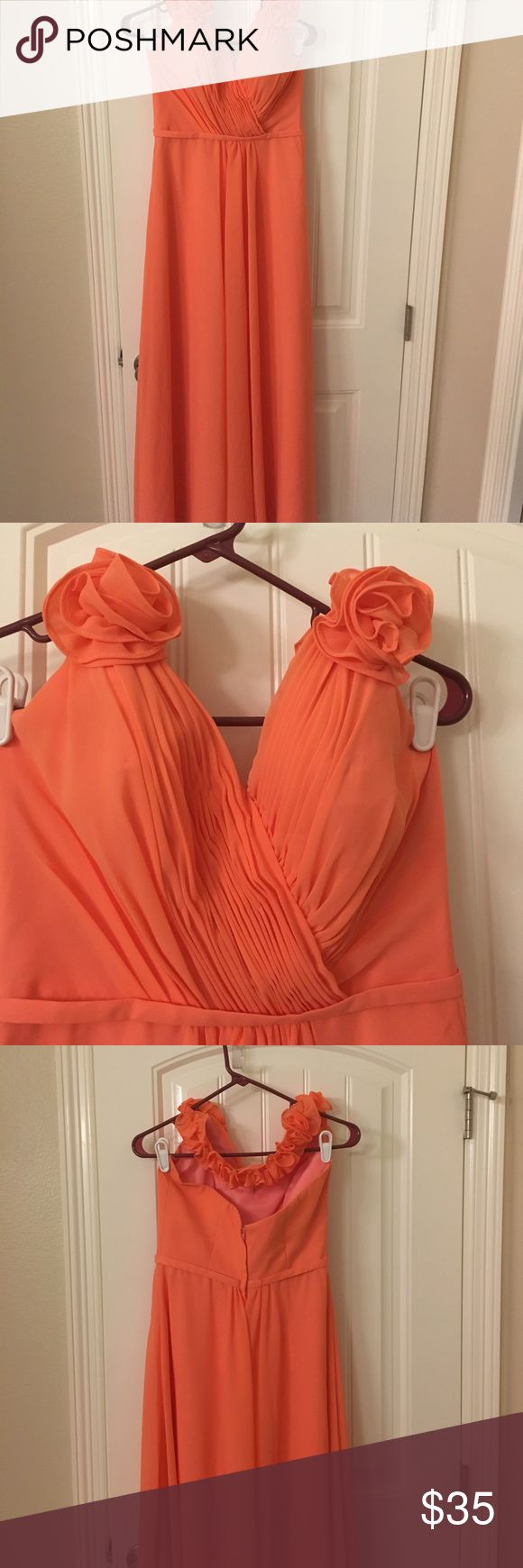 Event Dress. Size 6. Pink/Salmon color Bridesmaid/event dress. Only worn a few hours. I'm 5'8 and fit perfect length with flats. Good condition. See photos for details. Dresses Wedding