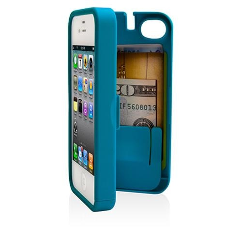 I want this for my phone...I think as much as I want the Lilly case..can I do both? :(Iphone 5S, Iphone Cases, Builtin Storage, Credit Cards Id Money, Storage Spaces, Turquoise Cases, Iphone 4 4S, Phones Cases, Built In Storage