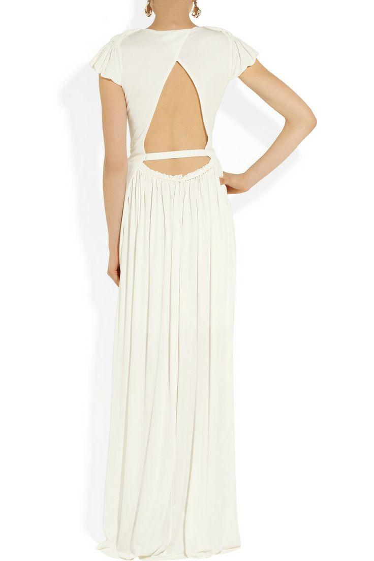 an elegant back makes this Sophia Kokosalaki's wedding gown.