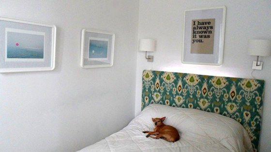 Como fazer uma cabeceira de cama estofada - Muito bom!