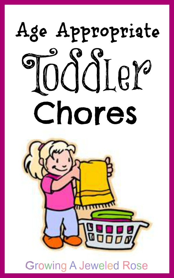 A list of age appropriate chores for toddlers.  Includes chore games and other ways to make chore time fun.