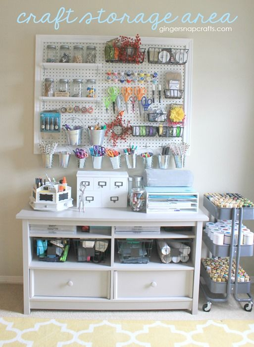 17 best images about craft room on pinterest crafting Craft storage ideas