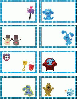 Blues Clues Gift Tag Free Printable
