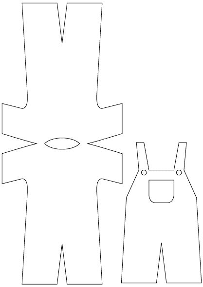 boy dungarees template