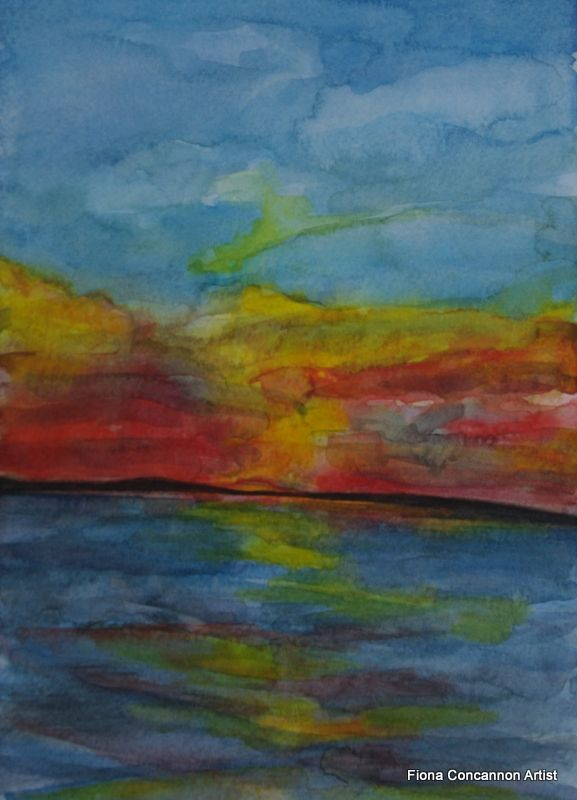 Galway Bay Sunset by Fiona Concannon on ArtClick.ie