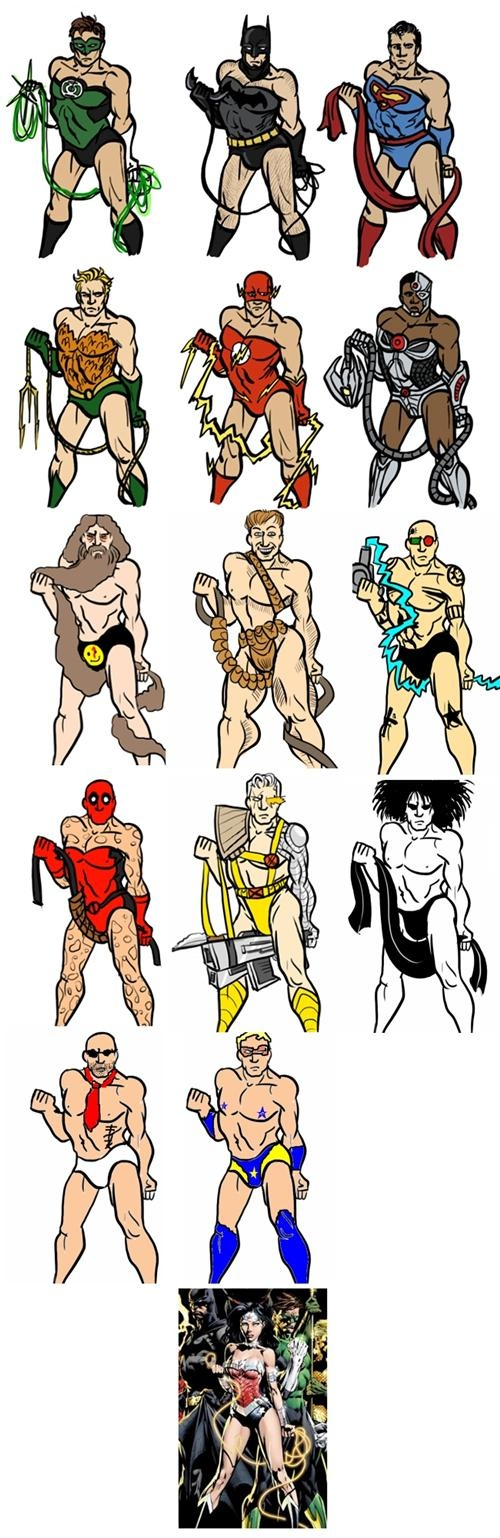 What if all of the male superheroes were posed like Wonder Woman?: Wonder Women, Comic Books, Male Superhero, Superhero Poses, Superheroes, Super Heroes, Wonder Woman, Jigsaw Puzzles, Justice League