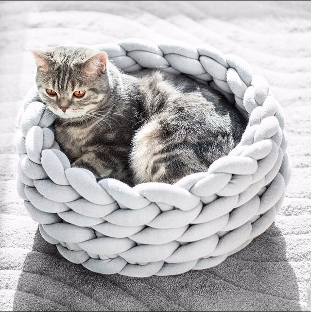 Braid Cat Bed Warm Dog House Mini Puppies Cats